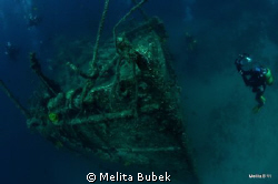 Wreck Lina, island Cres, Croatia...Nikond90, Tokina 10-17mm by Melita Bubek 